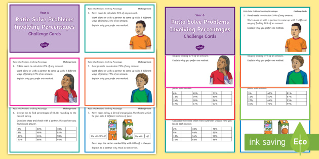 problem solving with percentages
