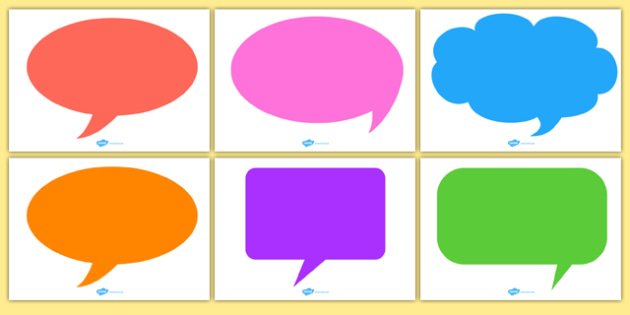Editable Speech Bubbles Teacher Made