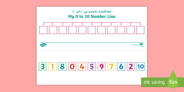 New Create A Number Line 0 To 10 Activity Sheet