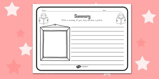 Summary Comprehension Worksheet - australia, comprehension, sheet