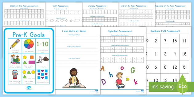 Early Childhood Printable Assessment Pack (teacher Made)