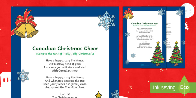 Canadian Christmas Cheer Song
