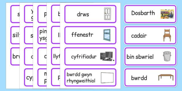 Classroom Word Cards Cymraeg - welsh, cymraeg, classroom, word cards, word, cards