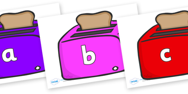 Phase 2 Phonemes on Toasters - Phonemes, phoneme, Phase 2, Phase two, Foundation, Literacy, Letters and Sounds, DfES, display