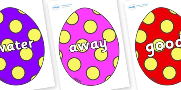 Next 200 Common Words on Easter Eggs (Spots) - Next 200 Common Words on  - DfES Letters and Sounds, Letters and Sounds, Letters and sounds words, Common words, 200 common words