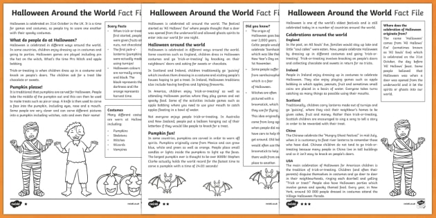Halloween Around the World Differentiated Fact File