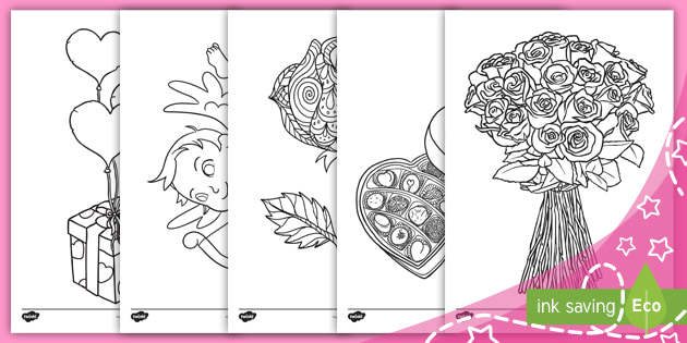 Valentine S Day Colouring Pages Teacher Made