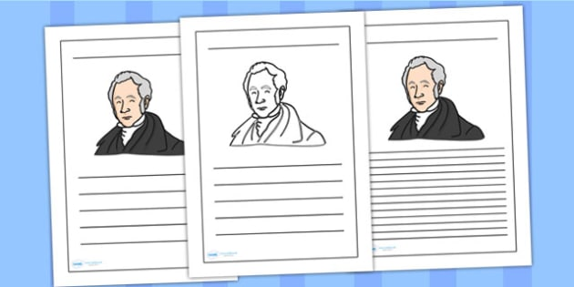 George Stephenson Writing Frame - george stephenson, writing frame, writing template, writing guide, writing aid, line guide, writing guide, themed aid
