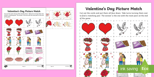 Canada Valentine S Day Matching Cards Canada Valentines Day