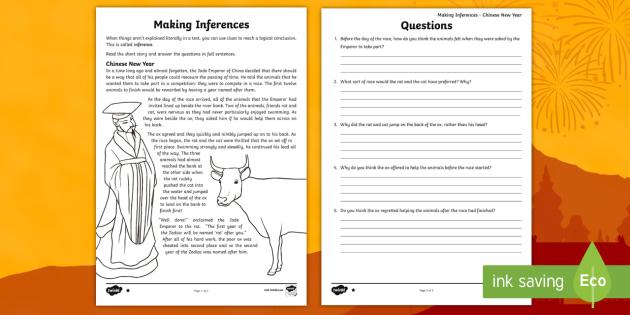 chinese new year making inferences worksheet worksheet ks2 inference. Black Bedroom Furniture Sets. Home Design Ideas