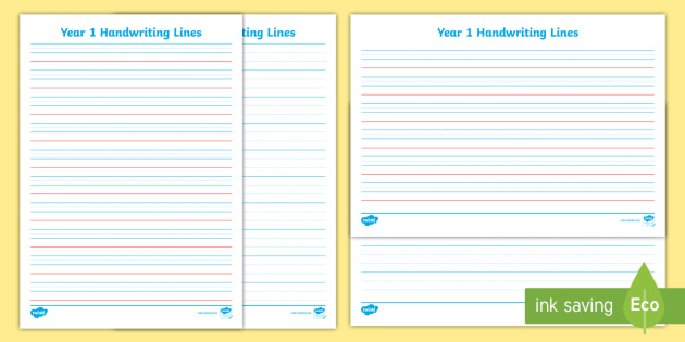 handwriting lines ks1