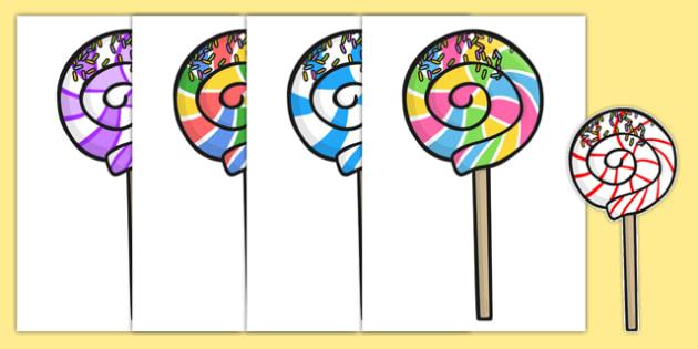 Five Lollipops Cut Outs - nz, new zealand, five lollipops, cut outs