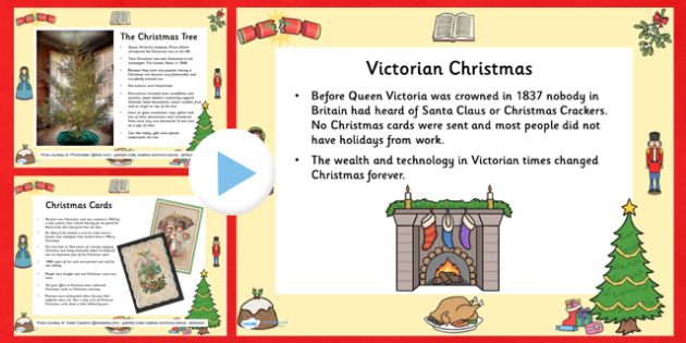 Victorian Christmas Time Information PowerPoint - christmas, xmas