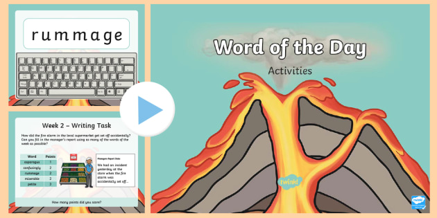 Year 2 Word of the Day Autumn 1 PowerPoint - Consolidate, Definition, Patterns, Dictionary, Rules