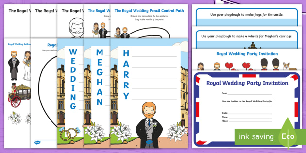 New Eyfs The Royal Wedding 2018 Activity Pack Prince Harry Meghan