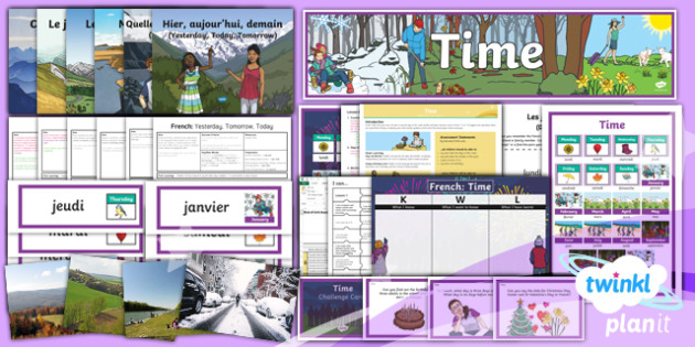 French: Time Year 3 Unit Pack