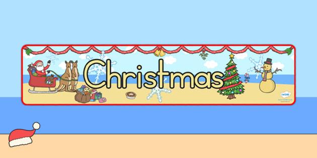 Australia Christmas Display Banner Christmas - christmas, banner, display
