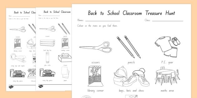 NZ Back to School Year 1 Classroom Treasure Hunt Activity