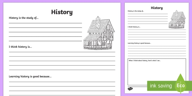 History Reflection Writing Template