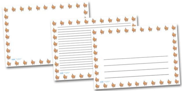 Baby Cat Kitten Landscape Page Borders- Landscape Page Borders - Page border, border, writing template, writing aid, writing frame, a4 border, template, templates, landscape