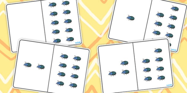 Beetle Counting Number Bonds to 10 - number, bonds, counting