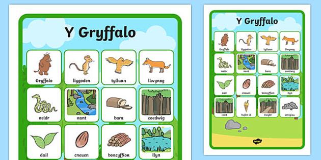 Mat Cyfateb Geirfa Y Gryffalo Mat Geiriau-Welsh