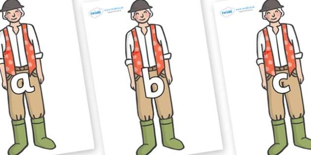 Phase 2 Phonemes on Farmer to Support Teaching on Pig in the Pond - Phonemes, phoneme, Phase 2, Phase two, Foundation, Literacy, Letters and Sounds, DfES, display