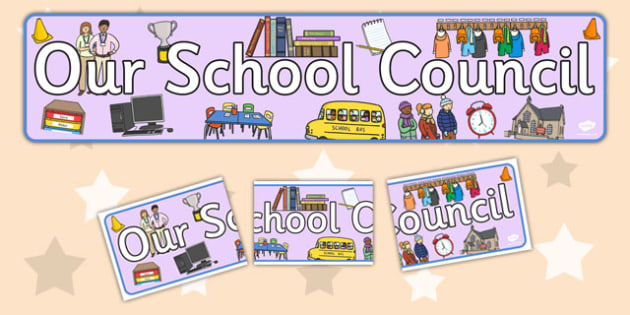 School Council Display Banner - School council, display banner, council, council members, member name, member, class council, display pack, poster, display