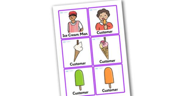 Ice Cream Van Role Play Badges - ice cream van, role play, badges, ice cream van badges, ice cream van role play, names for ice cream van, role play badges