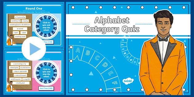 Ks2 Alphabet Category Game Ages 7 11 Teacher Made
