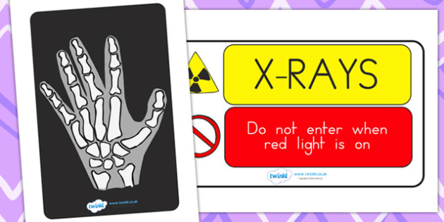 X Ray Display Signs - hospital role play, roleplay, props, signs