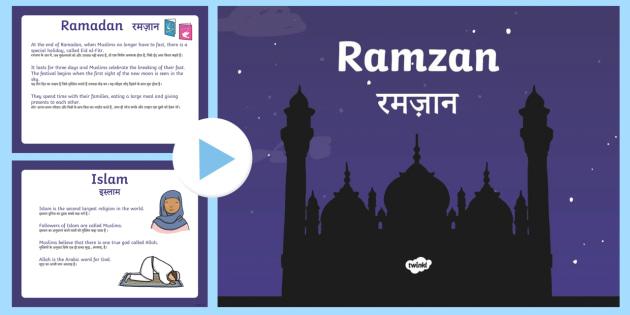 new ks1 ramadan information powerpoint englishhindi