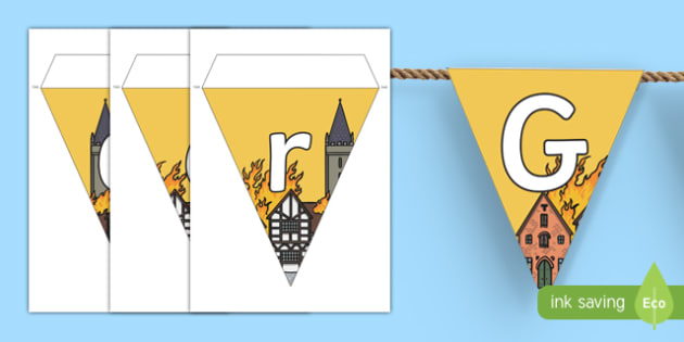 The Great Fire of London Display Bunting