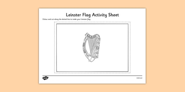 Leinster Flag Colouring Sheet - provinces of Ireland, Leinster, Munster, Connacht, Ulster, colouring sheets, flags