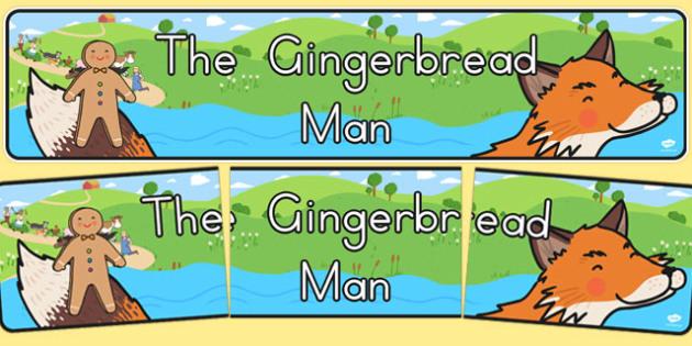 The Gingerbread Man Display Banner - australia, gingerbread man