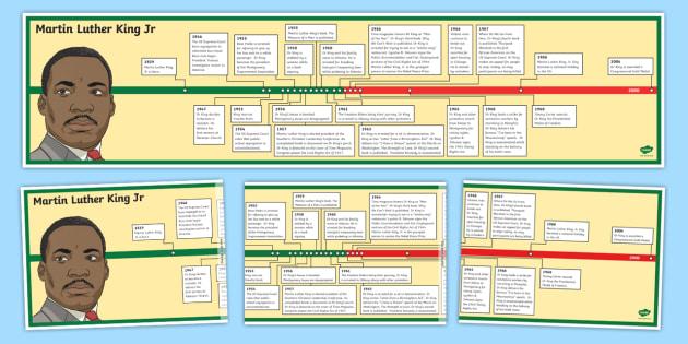 Martin Luther King Jr Display Timeline Martin Luther King Jr