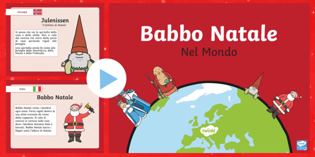 Babbo Natale Nel Mondo - Babbo Natale, Natale, PowerPoint, Mondo