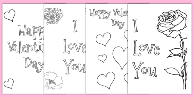 valentines day card colouring templates valentines day valentine love saint valentine