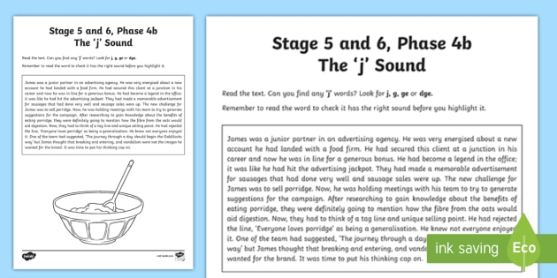 Northern Ireland Linguistic Phonics Stage 5 And 6 Phase 4b J