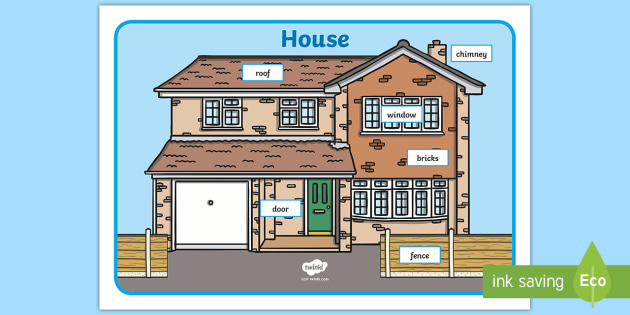House Word Mat - Label the House Worksheet - house, label ...
