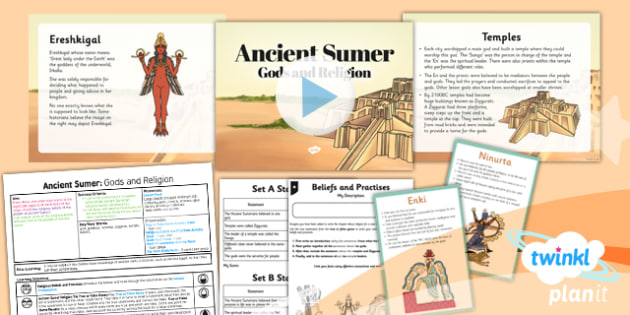 History: Ancient Sumer: Gods and Religion UKS2 Lesson Pack 4