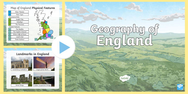 Geography Map Of England.Geography Of England Ks2 Powerpoint Geography English Activity