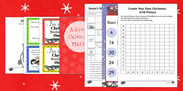 Top Ten LKS2 Christmas Maths Worksheet / Activity Sheet Pack