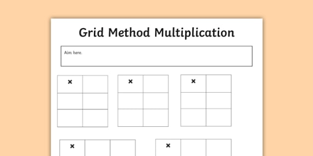editable grid method multiplication grids maths calculation ks1 ks2. Black Bedroom Furniture Sets. Home Design Ideas