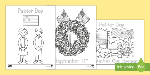 FREE! - Patriot Day Coloring Pages - september 11th, patriot ...