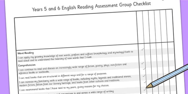 2014 Curriculum UKS2 Years 5 and 6 Reading Assessment Group Check