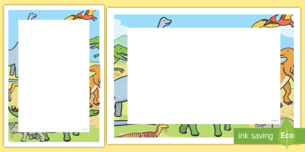 Dinosaurs Decorative Page Border , dinosaurs, page border, page