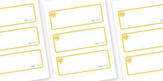 Orange Themed Editable Drawer-Peg-Name Labels (Blank) - Themed Classroom Label Templates, Resource Labels, Name Labels, Editable Labels, Drawer Labels, Coat Peg Labels, Peg Label, KS1 Labels, Foundation Labels, Foundation Stage Labels, Teaching Label