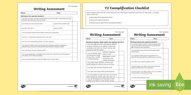 *NEW* KS1 Writing Exemplification - I can statements Checklist - I can statements Checklist - test, diagnostic, summative, formative