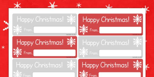 Christmas Gift Labels - christmas gift, labels, christmas, gift, display